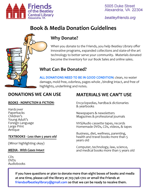 Donations guidelines